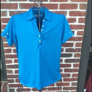 LADY HAGEN BLUE GOLF POLO SHIRT SIZE- MEDIUM